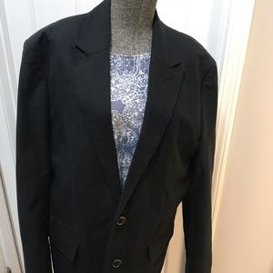 NWT Guess Jet Black Jacket Large